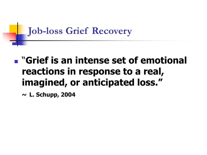 Job loss grief recovery