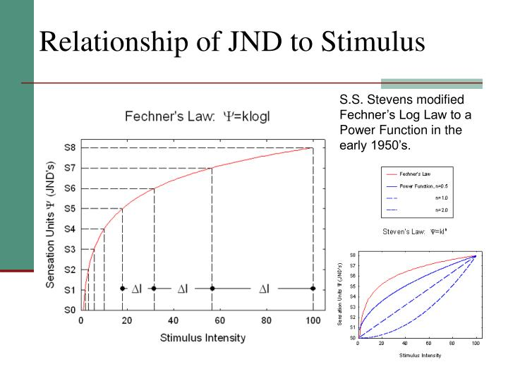 Relationship of JND to Stimulus