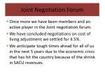 joint negotiation forum