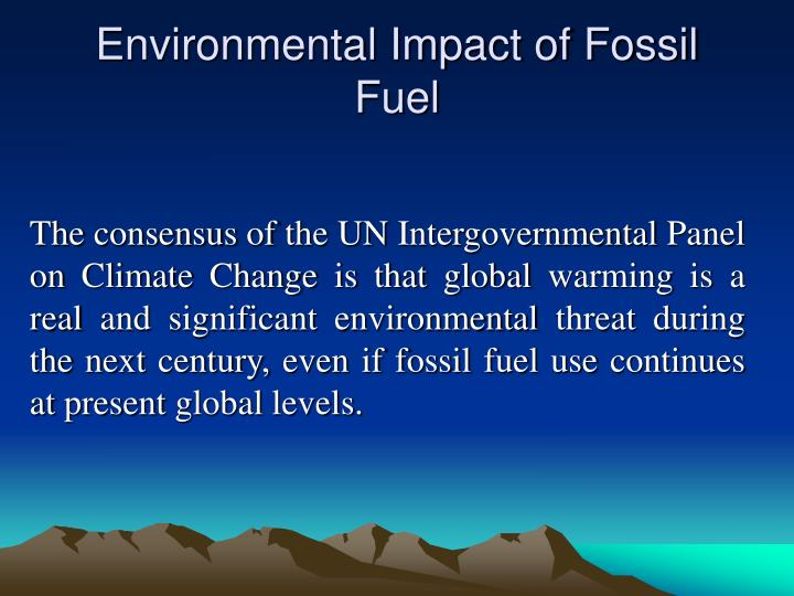 Environmental Impact of Fossil Fuel
