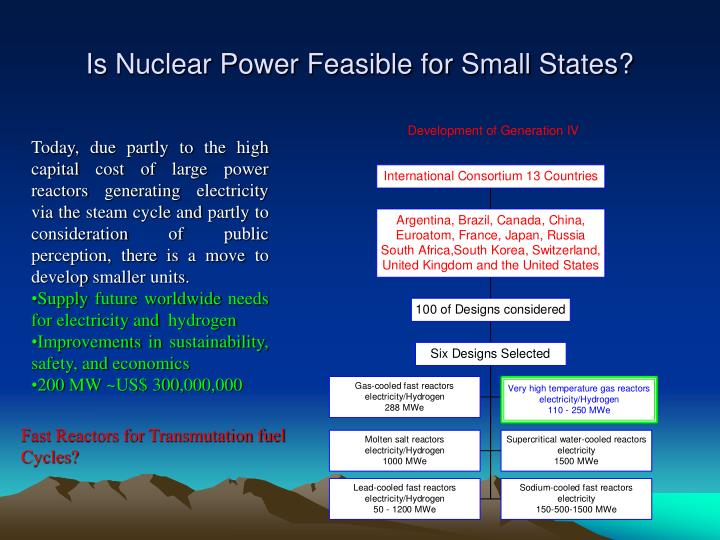 Is Nuclear Power Feasible for Small States?