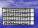 united health group financial analysis