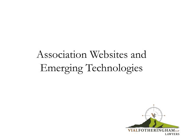 association websites and emerging technologies n.