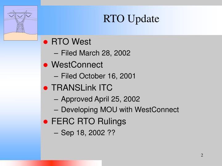 Rto update