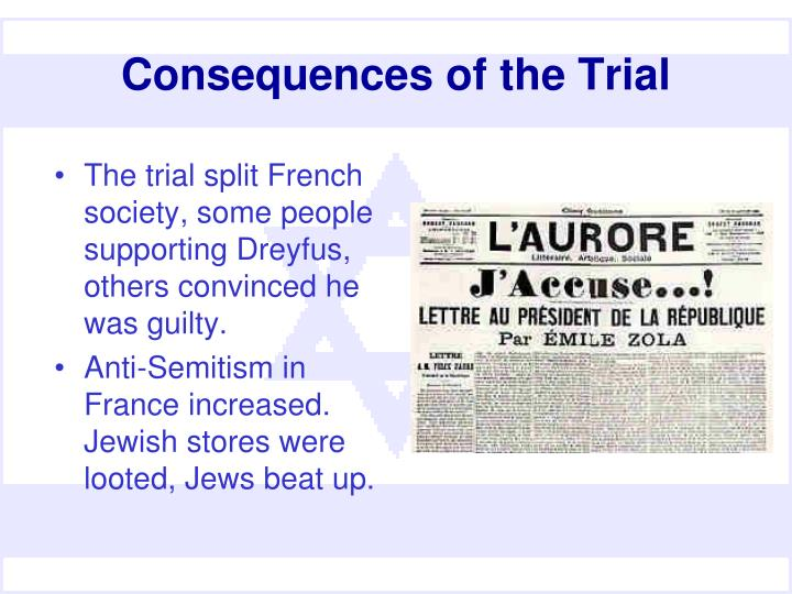 Consequences of the Trial