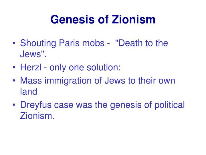 Genesis of Zionism