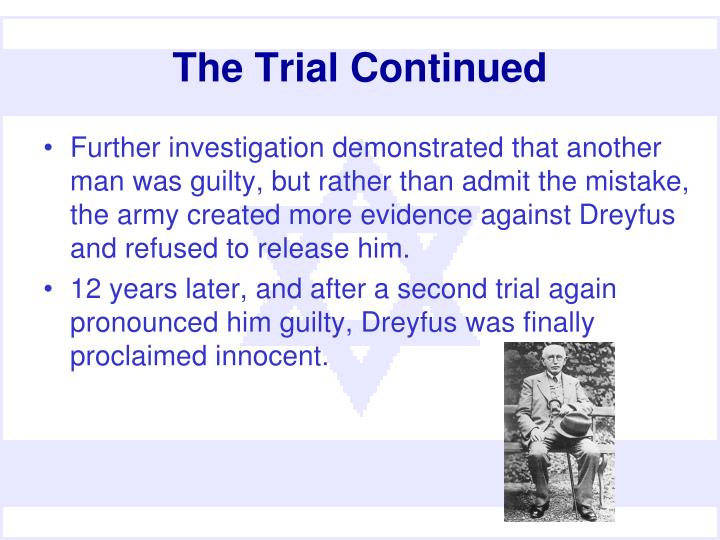 The Trial Continued