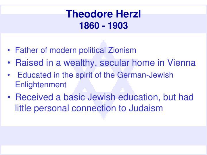Theodore herzl 1860 1903