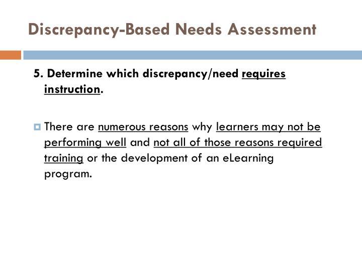 Discrepancy-Based Needs Assessment