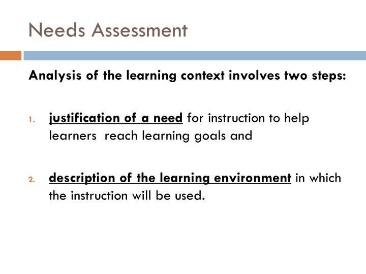 Needs assessment2