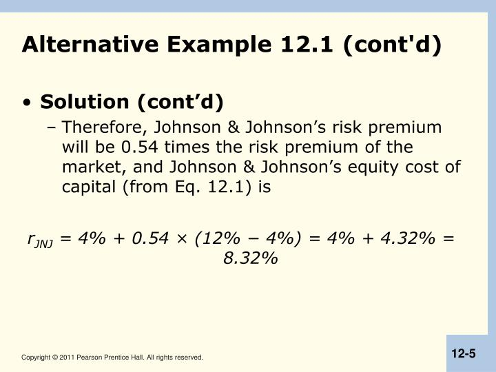 Alternative Example 12.1 (cont'd)