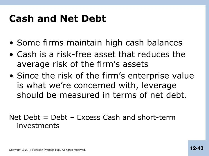 Cash and Net Debt