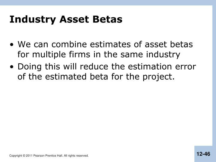 Industry Asset Betas
