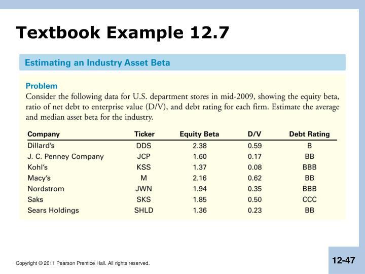 Textbook Example 12.7