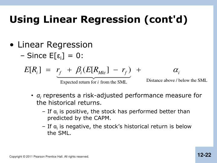 Using Linear Regression (cont'd)