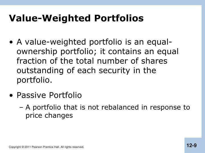 Value-Weighted Portfolios