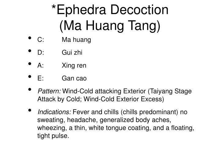 Ephedra decoction ma huang tang