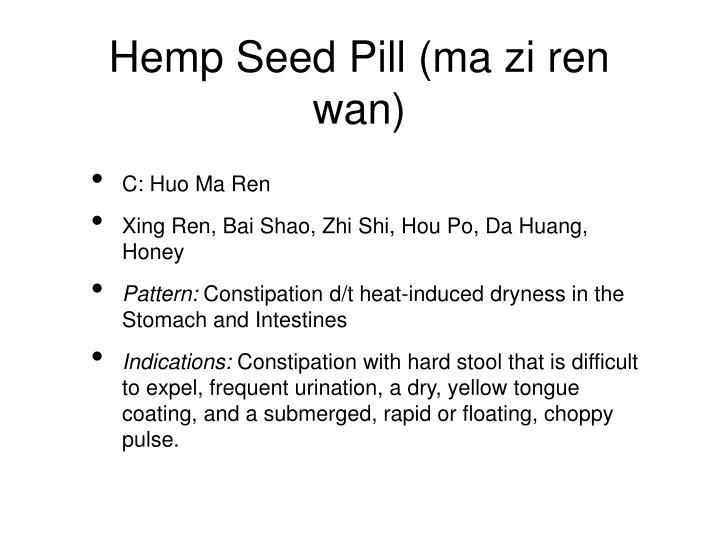 Hemp Seed Pill (ma zi ren wan)