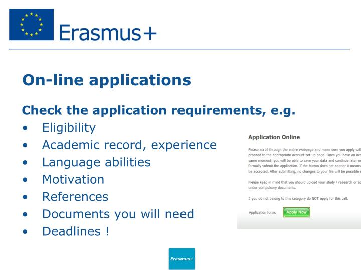 On-line applications