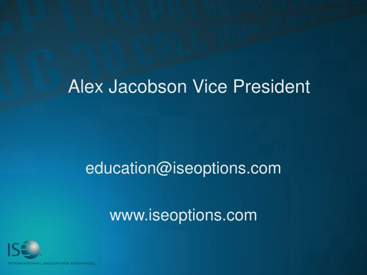 Alex Jacobson Vice President