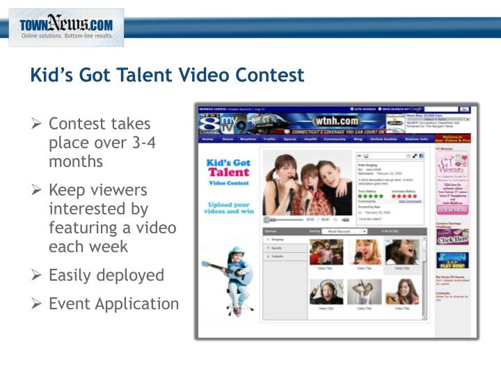 Kid's Got Talent Video Contest