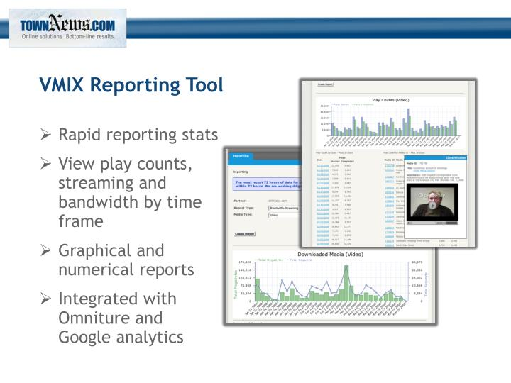 VMIX Reporting Tool