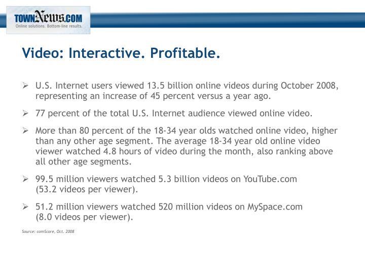 Video: Interactive. Profitable.