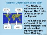 east west north south on the earth1