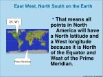 east west north south on the earth2