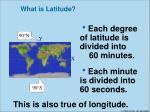 what is latitude1