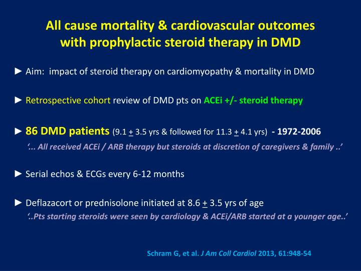 All cause mortality & cardiovascular outcomes