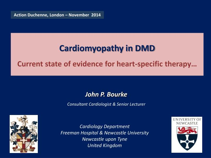 Cardiomyopathy in dmd current state of evidence for heart specific therapy