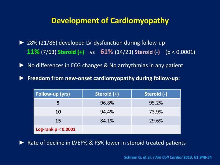 Development of Cardiomyopathy