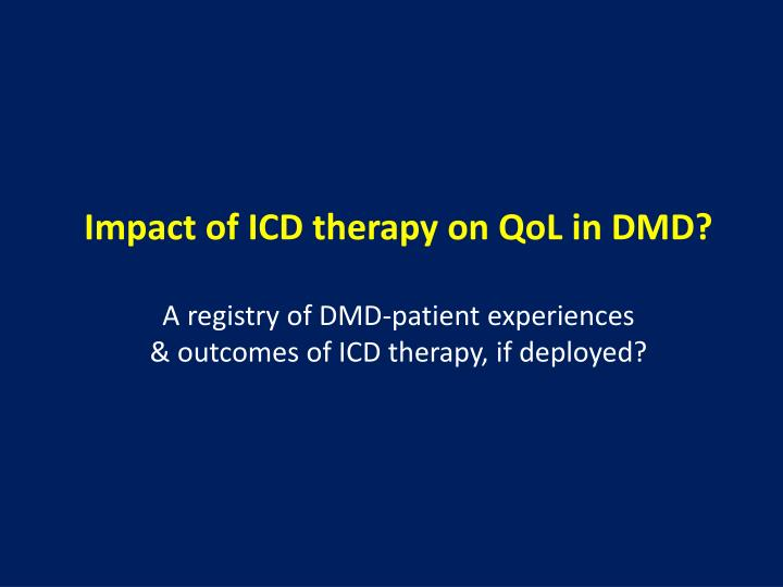 Impact of ICD therapy on QoL in DMD?