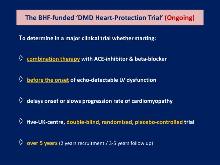 The BHF-funded 'DMD Heart-Protection Trial'