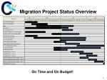 migration project status overview