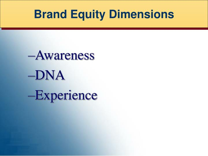 Brand Equity Dimensions