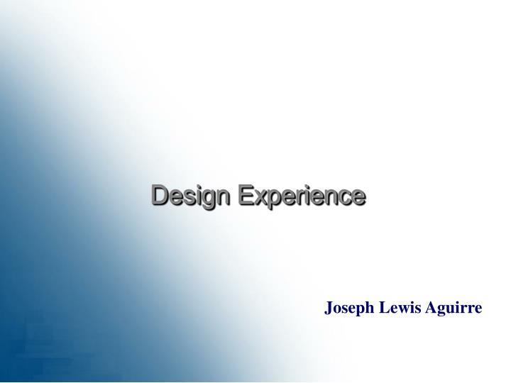 Design Experience