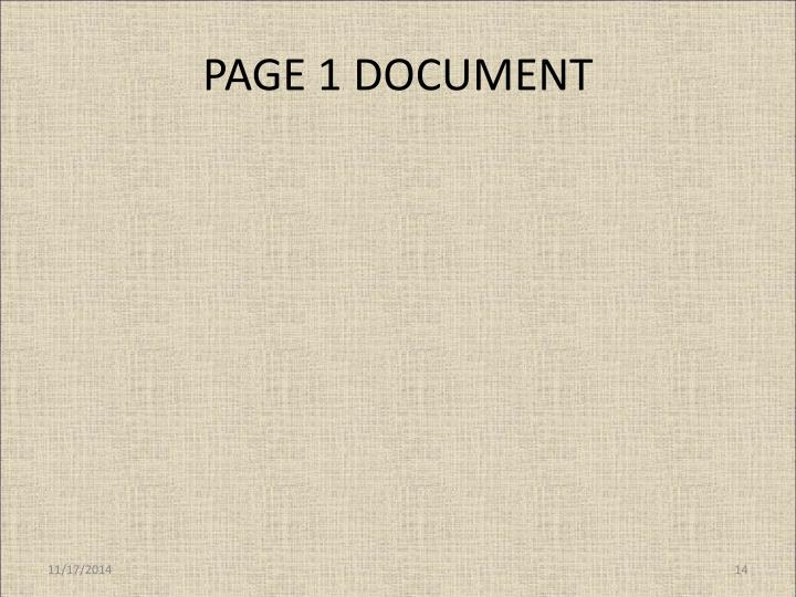 PAGE 1 DOCUMENT