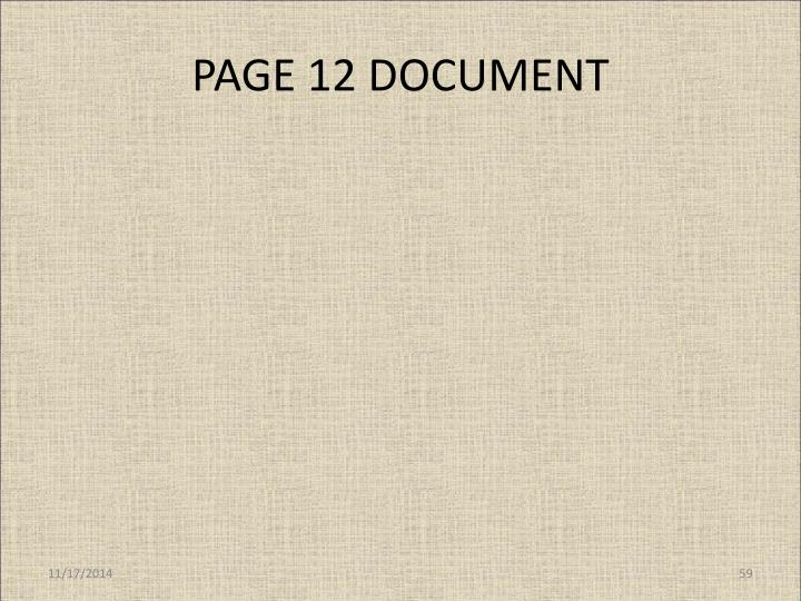 PAGE 12 DOCUMENT