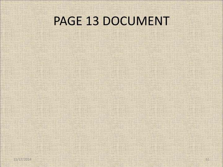 PAGE 13 DOCUMENT