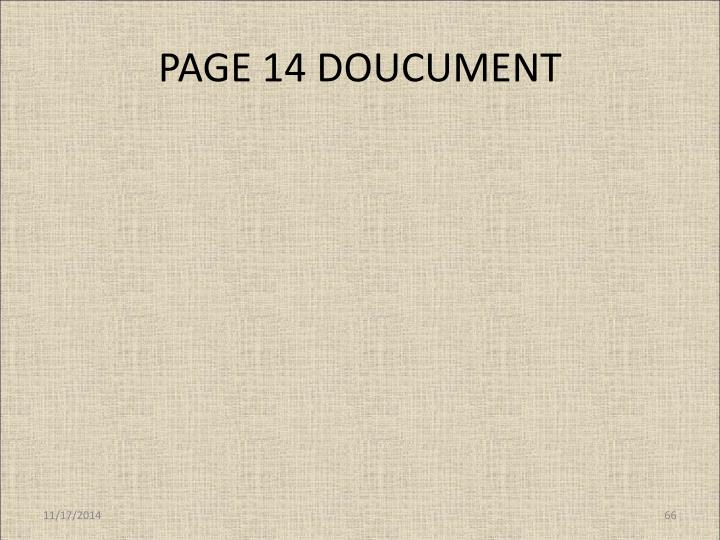 PAGE 14 DOUCUMENT