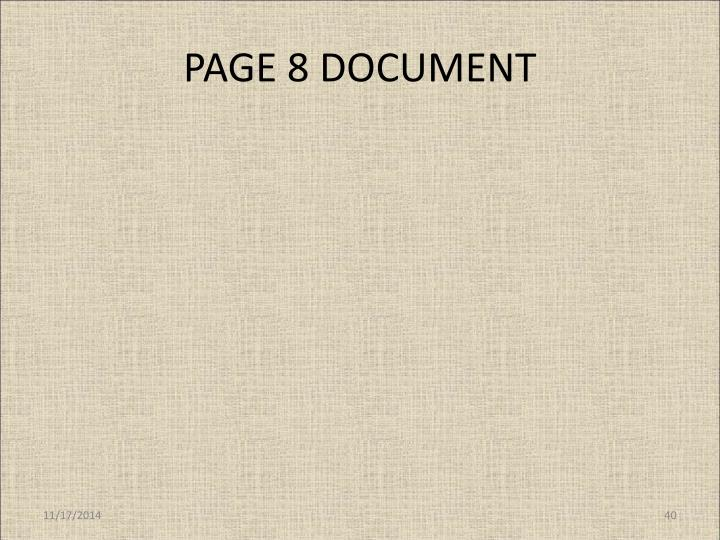 PAGE 8 DOCUMENT