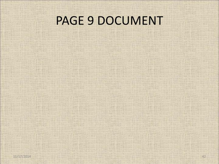 PAGE 9 DOCUMENT