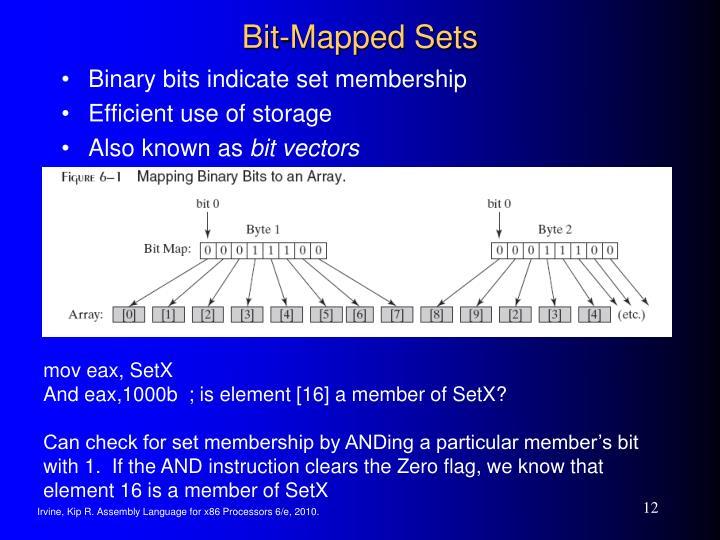 Bit-Mapped Sets