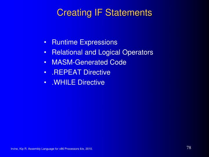 Creating IF Statements