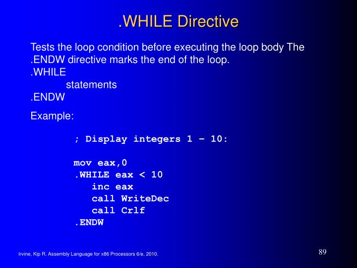 .WHILE Directive