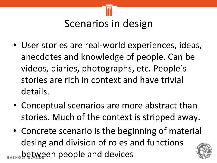 Scenarios in design