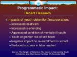 programmatic impact recent research