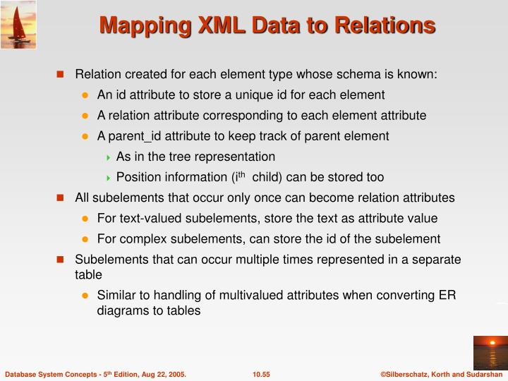 Mapping XML Data to Relations